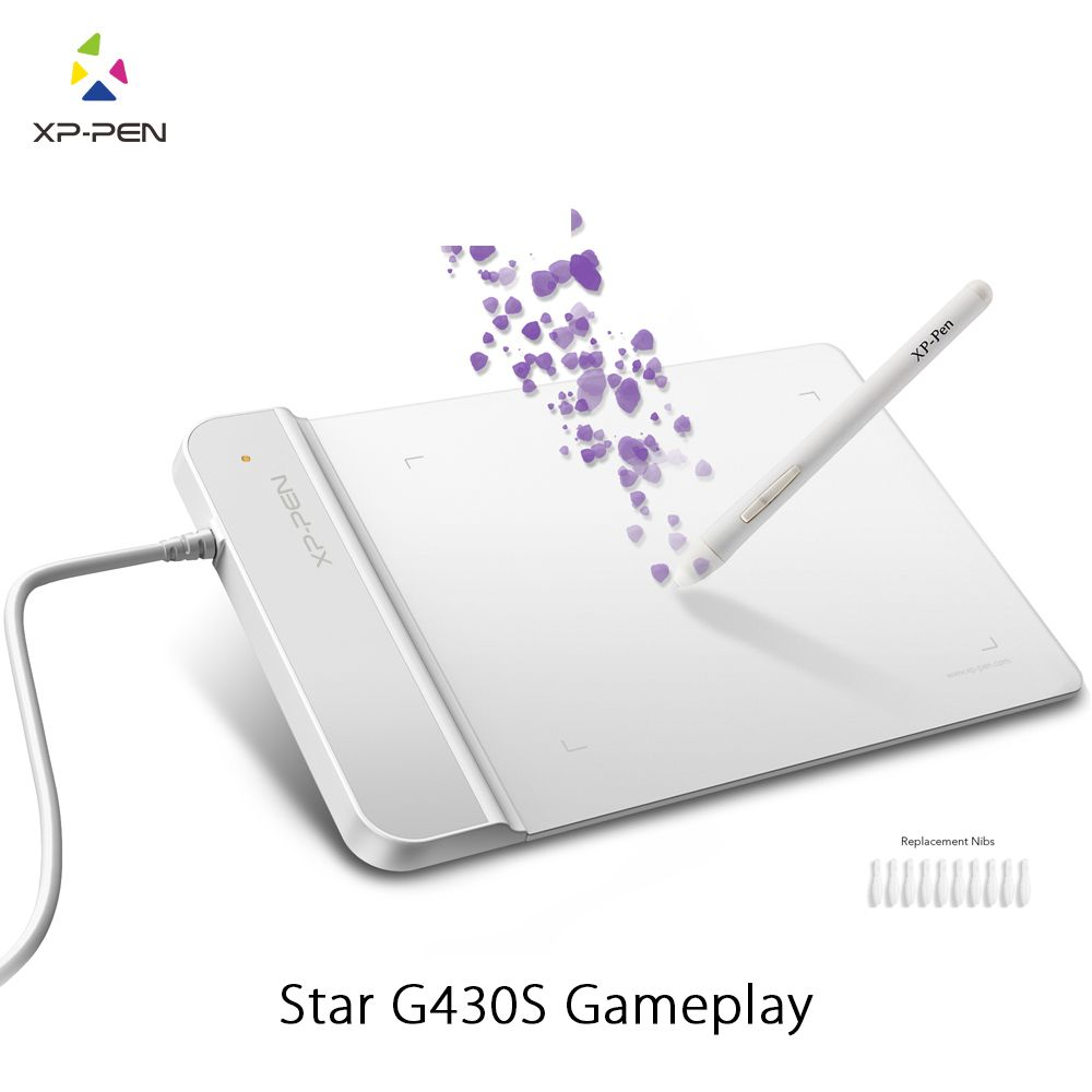 XP-Pen G430S Drawing <font><b>Tablet</b></font> Graphic <font><b>Tablet</b></font> 4 x 3 inch Painting <font><b>Tablet</b></font> for OSU with Battery-free stylus- designed! Gameplay