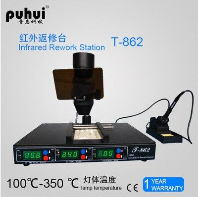 High Quality PUHUI T862 110V/220V 800W Infrared bga rework machine, BGA SMD SMT desoldering Rework Station, hot selling