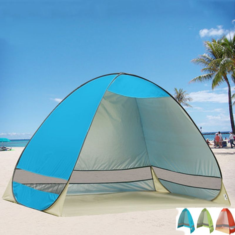 Tent Beach Tent Sun <font><b>Shelter</b></font> UV-Protective Quick Automatic Opening Tent Shade Lightwight Pop Up Open For Outdoor Camping Fishing