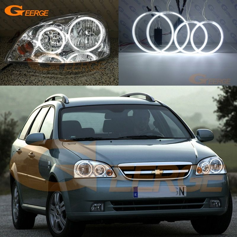 For Chevrolet Lacetti Optra Nubira 2002-2008 Excellent Ultra bright illumination CCFL Angel Eyes kit Halo Ring
