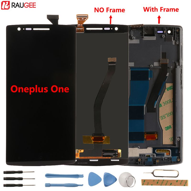 Oneplus One LCD Display+Touch Screen With Frame Test Good Digitizer Glass Panel Accessory Replacement For One plus One 64/16GB