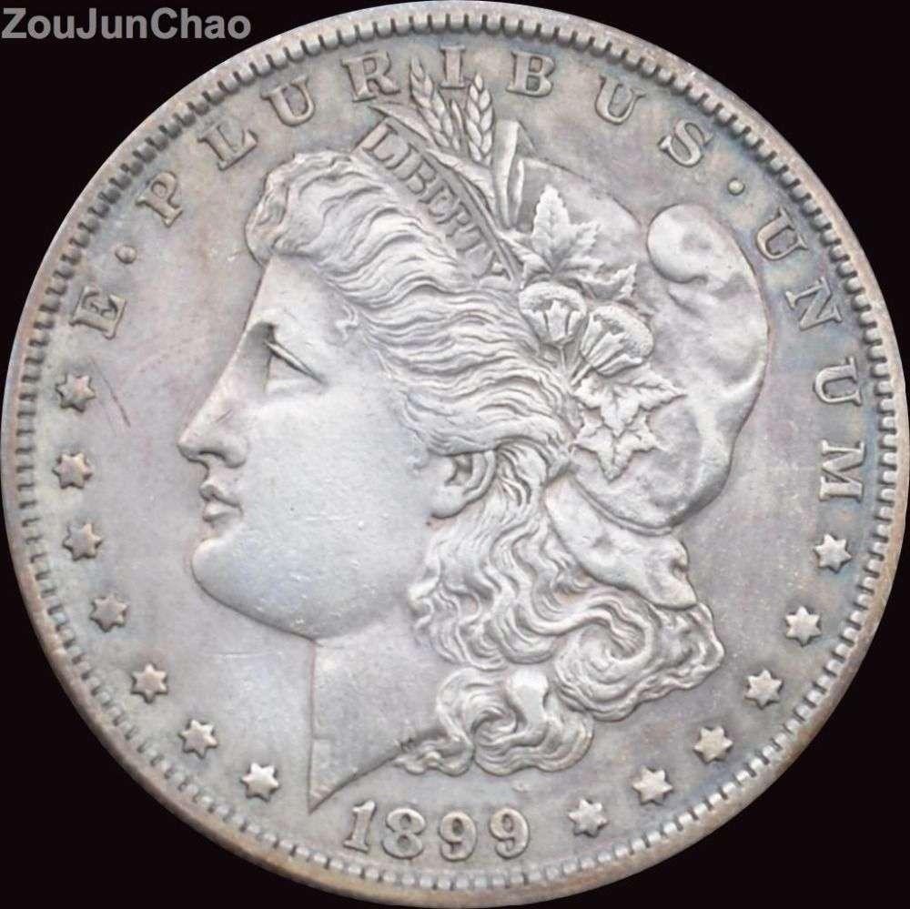 United States 1899-O Morgan Dollar 90% Silver Coin Copy Coins Can Choose Any Years