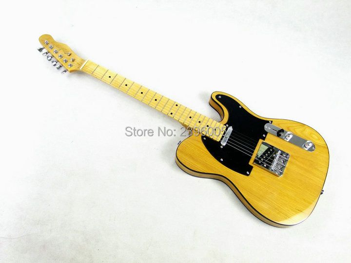 Chinese electric guitar Elm body Fen nature color tele guitar maple neck high quality TL guitar Shipping Free Factory Direct
