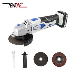 NEWONE 12V Angle Grinder with 2000mAh Lithium-Ion M10 Cordless Power Tool Cutting and Grinding Machine Polisher for Home DIY
