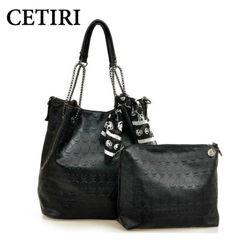 CETIRI Bags For Women 2017 Skull handbags Women Messenger Bag hippie composite Shoulder bags black Tote Bucket bolsos torebka