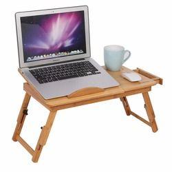 Lapdesk Table Lit Plateau Pliable Réglable Petit Déjeuner Table Basculante Top avec Tiroir De Rangement Bambou Mobilier de Bureau À Domicile