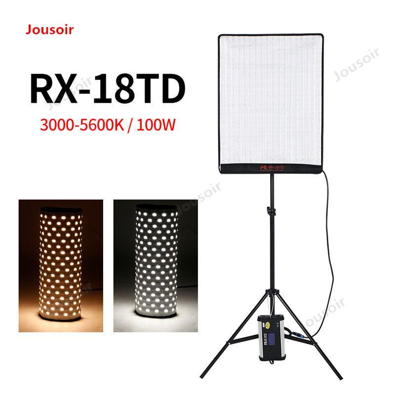 Falconeyes RX-18TD 100 W 504 stücke Flexible LED Licht Rollbar Tuch Lampe mit LCD Touch Screen Controller + X- form Unterstützung CD05T03