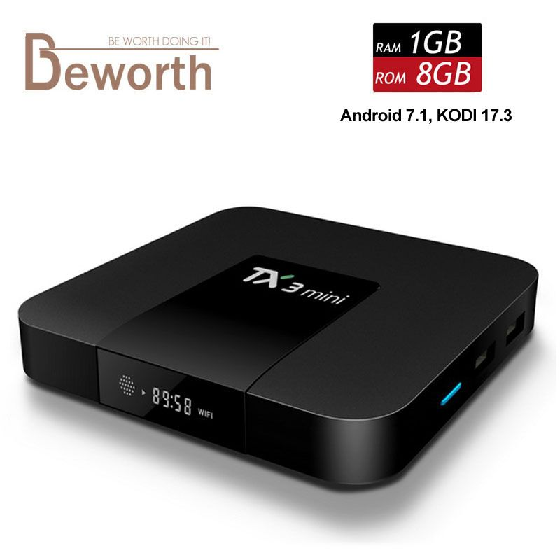 Android 7.1 Televisiones inteligentes caja amlogic s905w Quad Core 1 GB RAM 8 GB ROM tx3 Mini PC 2.4g WiFi 4 K Media Player 1g8g Kodi 17.3 más nuevo