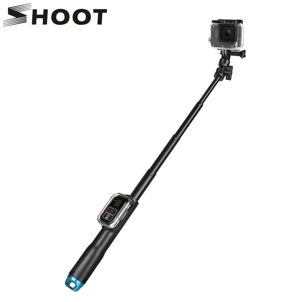 SHOOT 39 <font><b>Inch</b></font> Waterproof Selfie Stick for Gopro Hero 7 5 6 4 Session Camera With WIFI Remoter Clip For Go Pro Monopod Accessory
