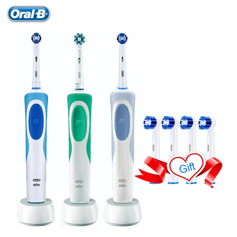 Oral B Vitality Electric Toothbrush Rechargeable Teeth Brush Precision Clean 2 Minutes Timer +4 Gift Replace Heads Free Shipping