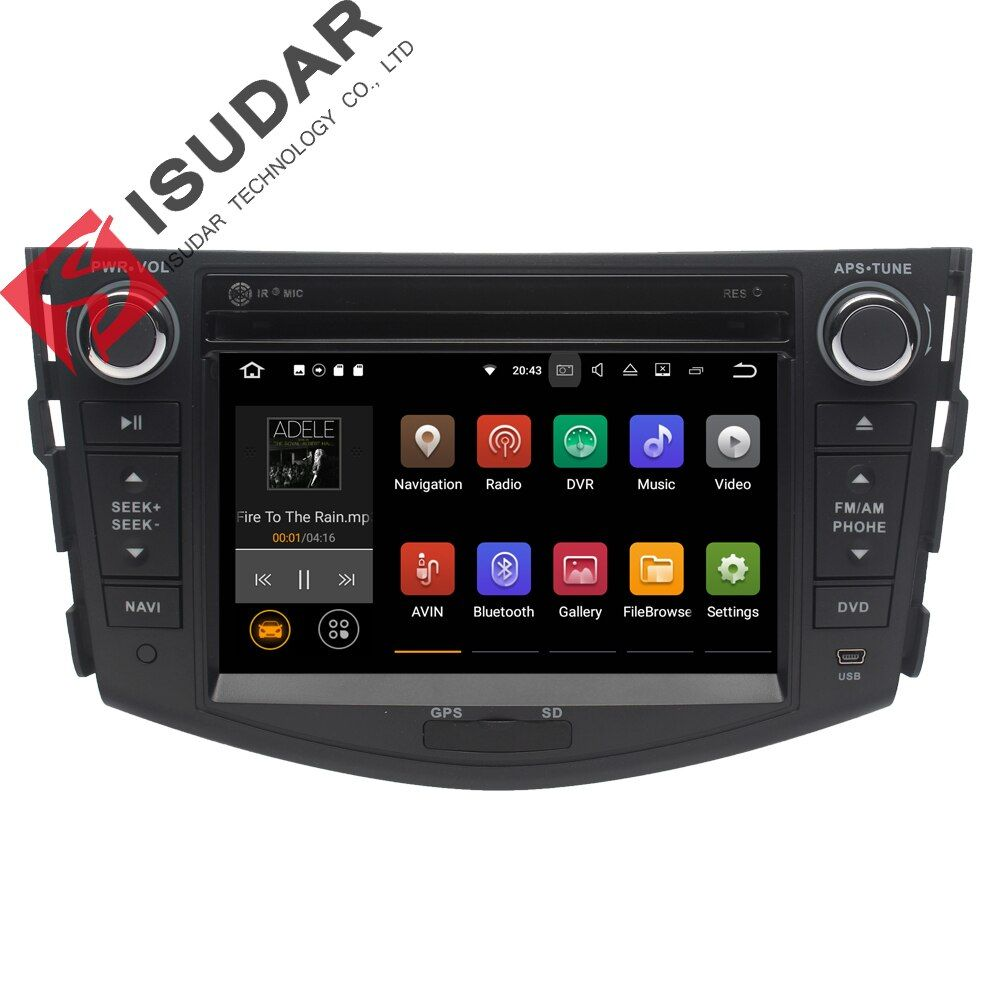 Android 7.1.1 2 Two Din 7 Inch Car DVD Player For TOYOTA/RAV4/RAV 4 2006-2011 RAM 1G/2G Quad Core WIFI GPS Navigation Radio USB