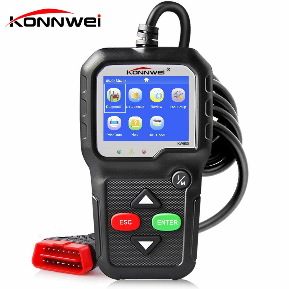 OBD2 Automotive Scanner OBD 2 Car Diagnostic Tool KONNWEI KW680 ODB2 Engine Code Reader Auto Diagnostic Scanner Better ELM 327