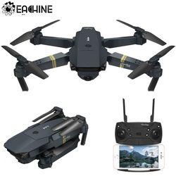 Eachine E58 Wifi FPV dengan Sudut Lebar HD Kamera Tinggi Tahan Mode Lipat ARM RC Quadcopter Drone RTF Vs Visuo XS809HW Brica H37