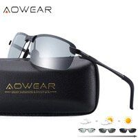 AOWEAR HD Polarized Photochromic Sunglasses Men Driving Chameleon Glasses Male Day Night Driver Goggles Oculos Lentes Sol Hombre