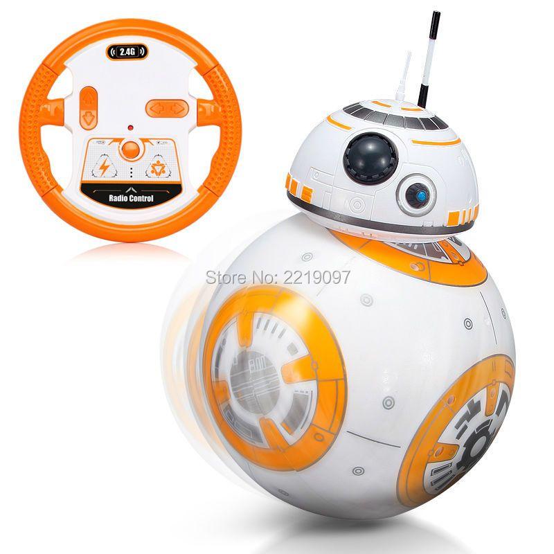 Star Wars RC BB8 умный обновления маленький шарик 2.4 г Дистанционное управление Droid робота BB-8 фигурку малыша игрушка в подарок с звук модель