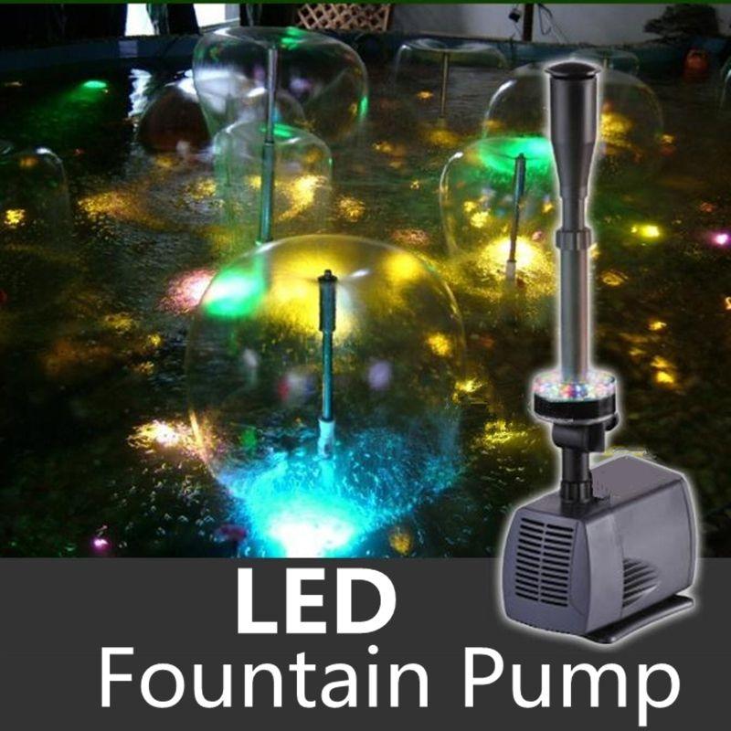 Светодиодный Цвет изменение погружной водяной насос фонтана фонтан чайник для Fish Садовый пруд бассейн