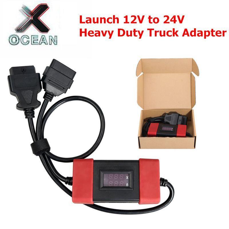 2019 starten 12 V zu 24 V Adapter Starten Heavy Duty Lkw Diesel Adapter Kabel für X431 Easydiag2.0/3,0 golo Carcare beste qualität