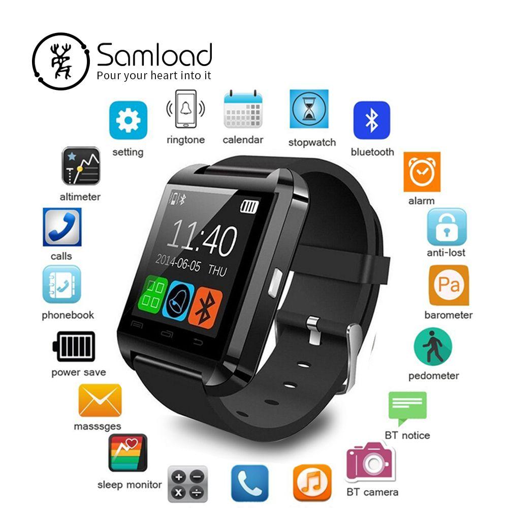 Samload Montre Smart Watch Horloge Sync Notifiant Soutien Bluetooth Connectivité Pour Android Téléphone Smartwatch PK GT08 DZ09 GV18 U8