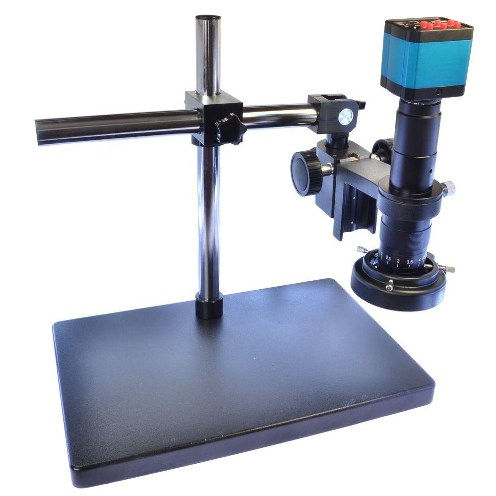 14MP HDMI HD USB Digital Industry Video Microscope Camera Set+Big Boom Stand Universal bracket +180X C-MOUNT Lens+144 LED Light