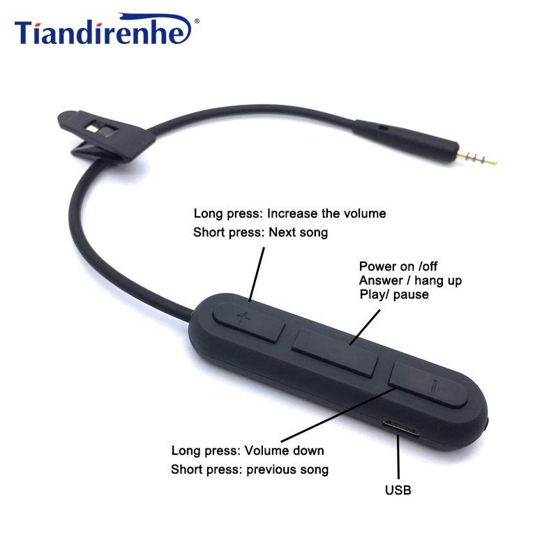 Новые Беспроводной bluetooth кабель для Bose OE2 OE2i qc25 наушников передатчик адаптер 2.5 мм аудио Кабели Шнур для iPhone Android