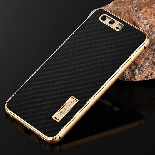 For Huawei P10 Plus Case Metal Luxury Aluminum Bumper Real Carbon Fiber Hard Back Case Cover For Huawei P10 P10 Plus Phone Cases