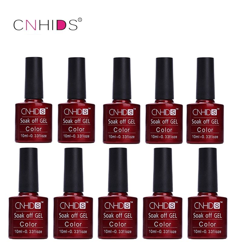 CNHIDS 10 PC Nail Gel Polish LED Shining Colorful 132 Colors 10ML Long lasting soak off Varnish cheap Manicure