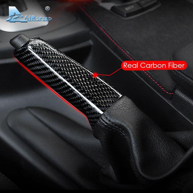 Airspeed for BMW E46 E90 E92 E60 E39 F30 F34 F10 F20 Accessories Universal Carbon Fiber Car Handbrake Grips Cover Interior Trim
