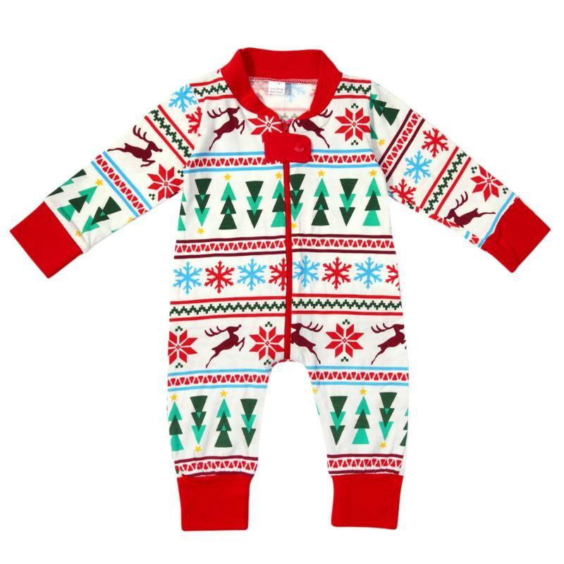 Family Pajamas Digital Print Family Matching Clothes Set Nightwear New Year Autumn Winter Family Pajamas pijama familia