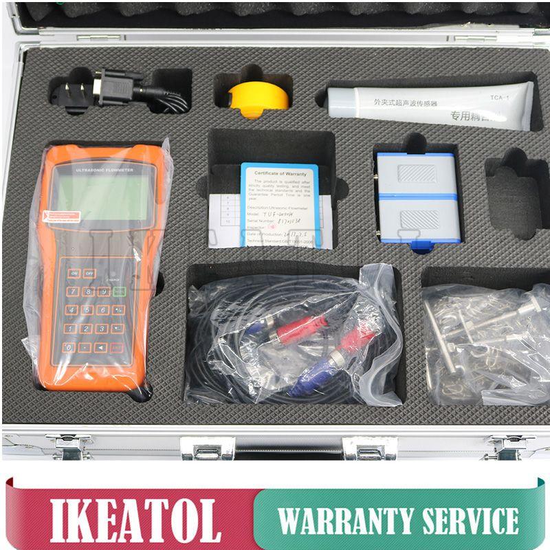 Handheld TUF-2000H Ultraschall Digitale Durchflussmesser DN15-700mm TS-2 TM-1 Wandler Durchflussmesser Kostenloser Versand
