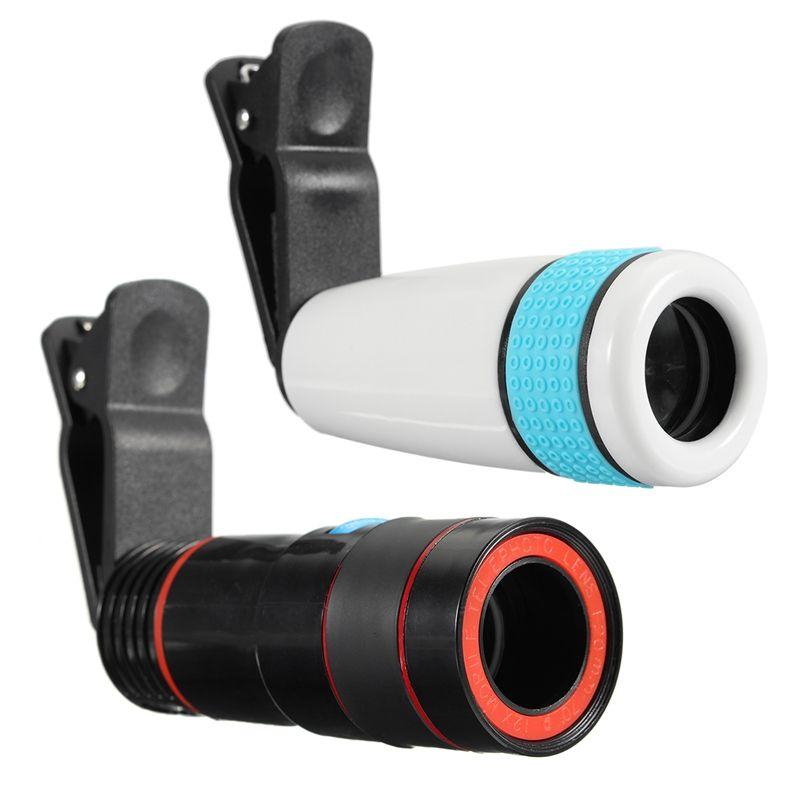 12x Zoom Optique Télescope Téléobjectif Téléphone Appareil Photo Lens Clip sur Universel Pour iPhone Android Mobile Cellulaire Téléphones Deux Types