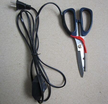 1 шт. электрическое отопление портной ножницы Мощность горячие ножницы нож с подогревом Ручка рабочий индикатор для резки ткани