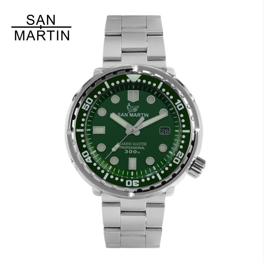 San Martin NEW Tuna SBBN015 Fashion Automatic Watch NH35 Movement Stainlss Steel Diving Watch 300mWater Resistant Ceramics bezel