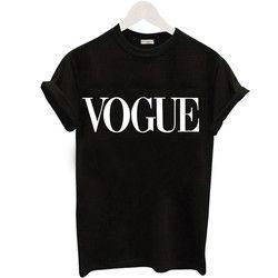 Plus la Taille S-XL Harajuku D'été T Shirt Femmes Nouveautés Mode VOGUE Imprimé T-shirt Femme Tee Hauts Casual Femme T-shirts