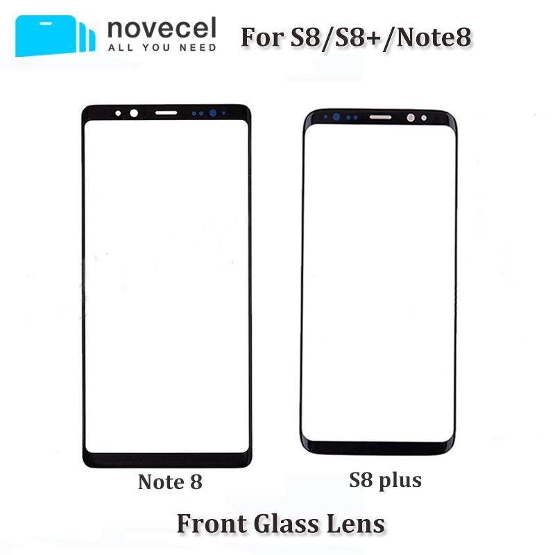 Novecel OEM New Devant L'objectif En Verre Pour Samsung S8/S8 +/Note 8 N950 LCD écran tactile en verre remplacement pour S8 G950/S8 Plus G955