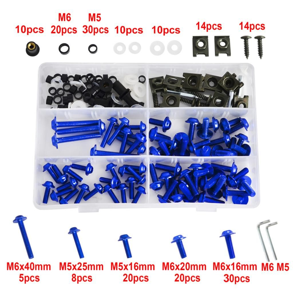 NICECNC M5 M6 Windscreen Fairing Bolt Nut Screws For Yamaha FZ1 FZ6 FZ8 YZF R1 R1S R6 R6S R7 600R 1000 1000R FZR 400 600 750R TZ