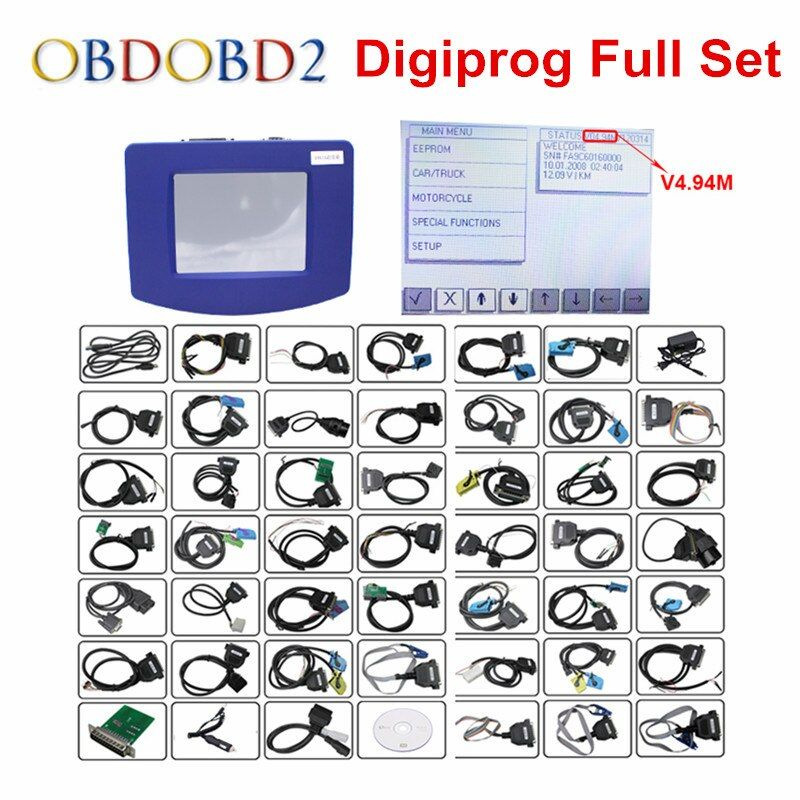 FTDI Digiprog 3 Odometer Programmer Full Software DP3 V4.94 Digiprog III Mileage Correction Tool Digiprog3 With ST01 ST04 Cable