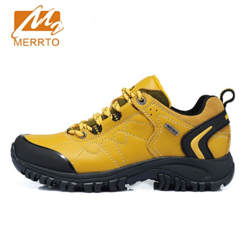 2018 Merrto Women Walking Shoes Waterproof Outdoor Shoes Breathable Sport Shoes Full-grain Leather For Women Free Shipping 18251