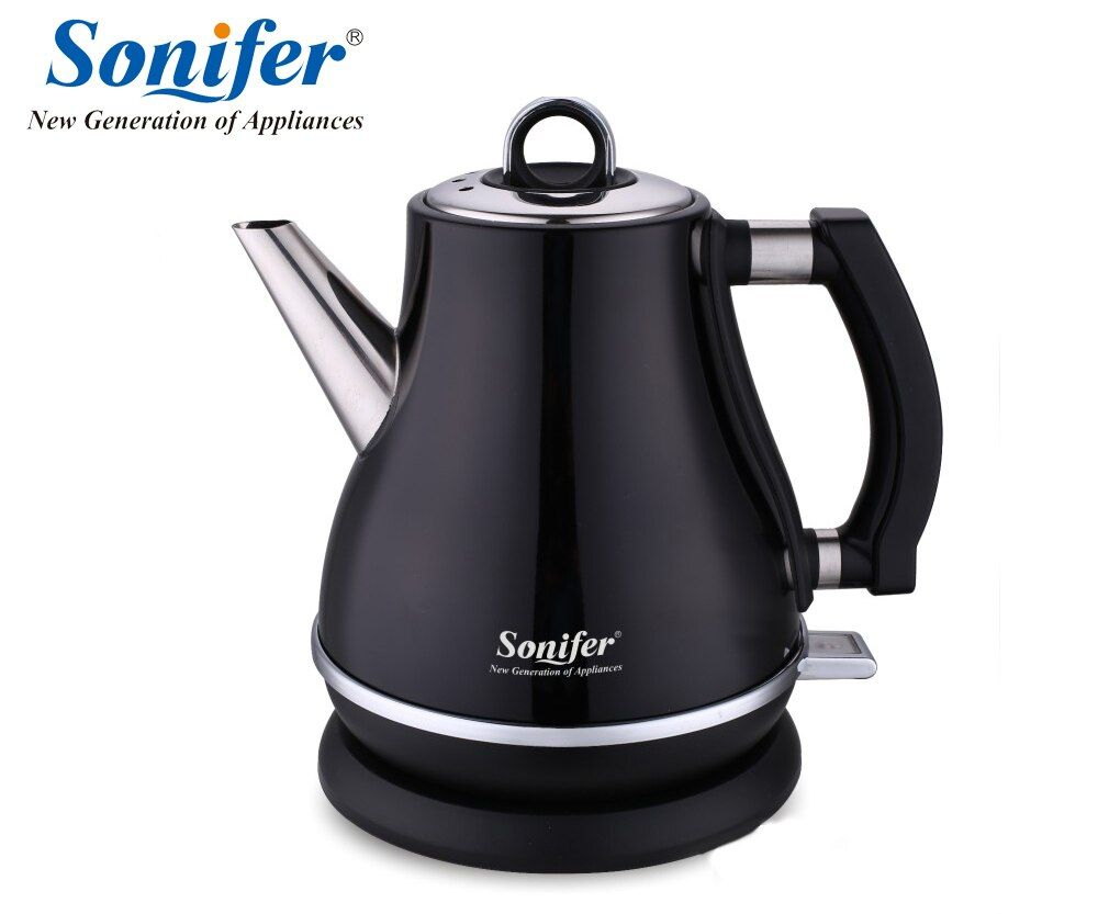 1.2L Colorful 304 Stainless steel Electric Kettle <font><b>1500W</b></font> Household 220V Quick Heating Electric Boiling Pot Sonifer