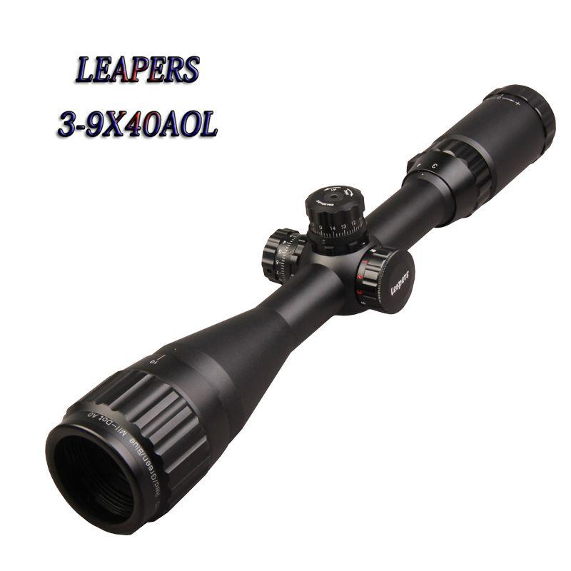 HOT LEAPERS 3-9X40 Riflescope Mil Dot Richtkruis Optische Zicht Jacht Richtkijker Tactical Optics Airsoft Air Guns Scopes