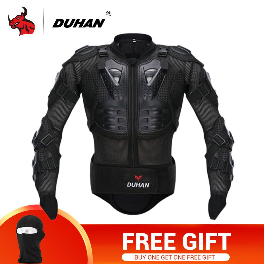 DUHAN Motorcycle Jacket Motorcycle Armor Riding Body Prtection Motorcross Racing Full Body Armor Spine Chest Protective Jacket