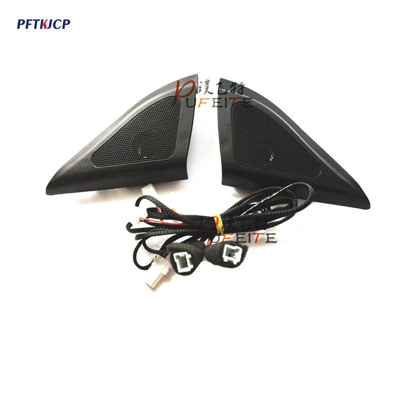 For Hyundai ix25 speakers tweeter car-styling Audio trumpet head speaker ABS material triangle speakers tweeter free shipping