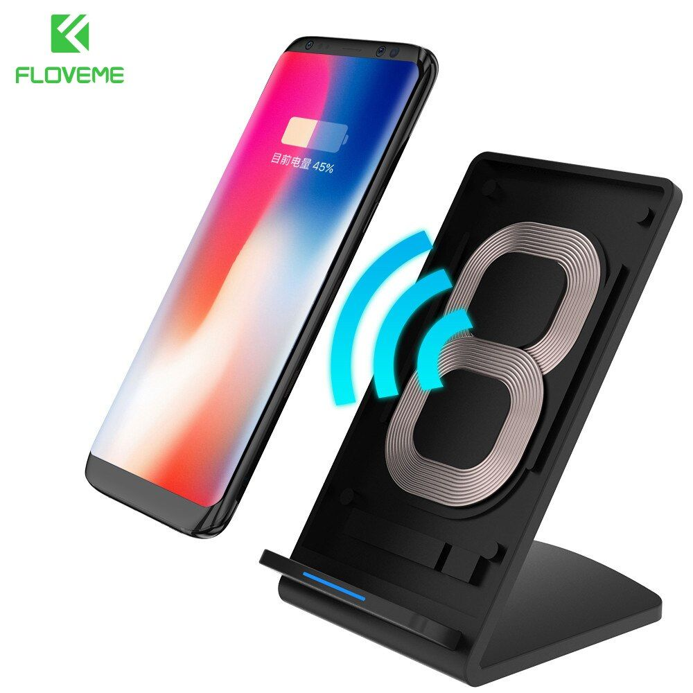FLOVEME 5V 2A Qi Wireless Charger For Samsung Galaxy S8 Plus S7 Edge Fast Charging Charger For iPhone X iPhone 8 8 Plus Charge