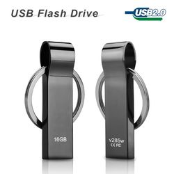 hot sale V285W Waterproof Metal USB Flash Drives pen drive 32GB 16GB 8GB Flash Drive with key ring free shipping
