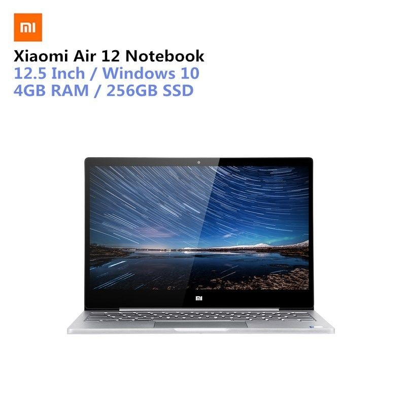 Xiaomi Air 12 Notebook 12,5 zoll Win10 CN Version 7th Gen Intel Core M3-7Y30 Dual Core 1,0 ghz 4 gb RAM 256 gb SSD Bluetooth 4,1