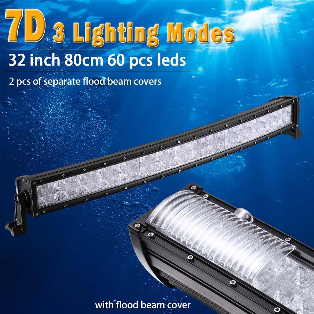 32 inch 7D Curved LED Bar with DRL LED Work Light Bar for Tractor OffRoad 4WD 4x4 Truck SUV ATV 12V 24v LED Light Bar