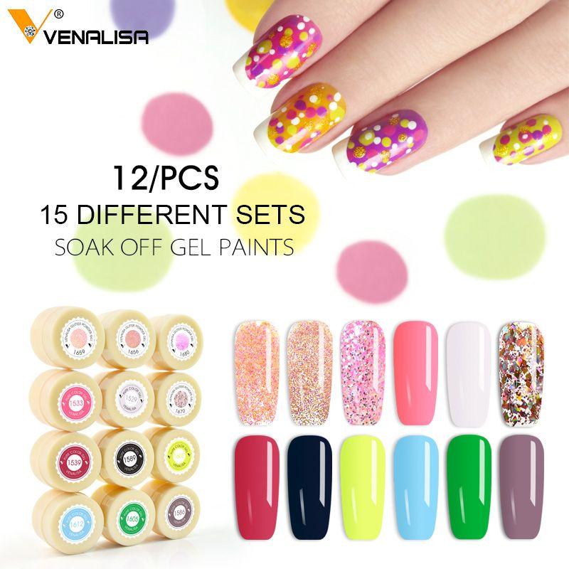 2019 Venalisa ongles art conseils conception professionnel ongles cosmétique manucure 60 couleurs uv led tremper peinture vernis à ongles laque gels
