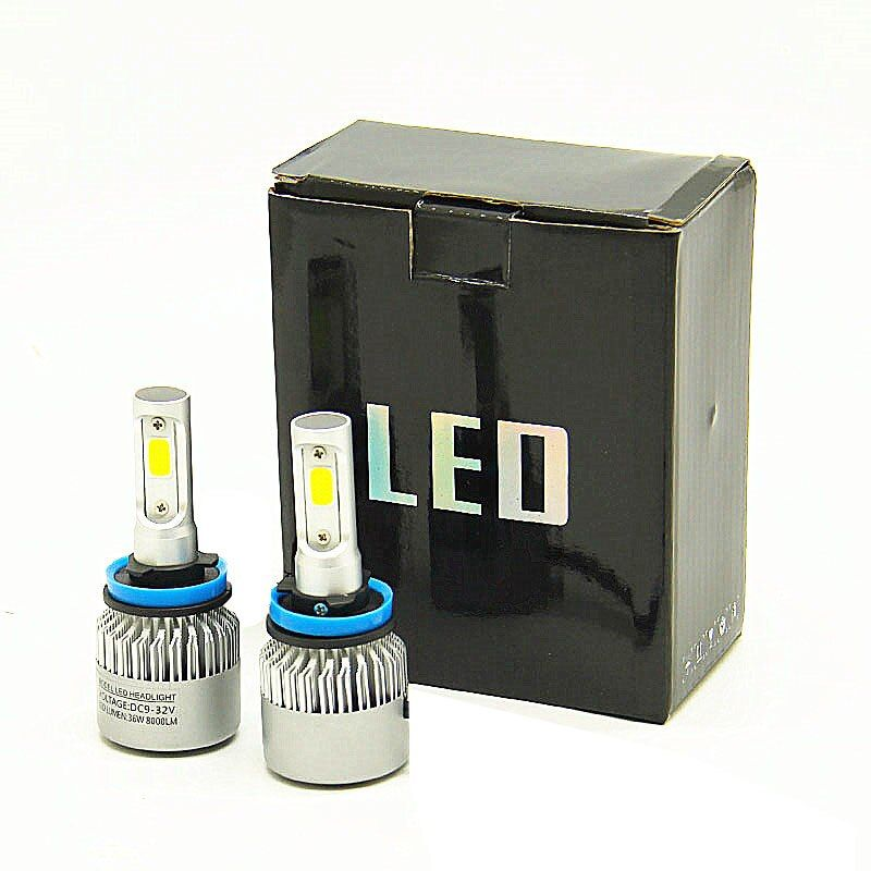 DHL verschiffen H4 LED H7 H11 H8 9005 9006 HB4 H1 H3 HB3 Auto Auto Scheinwerfer Lampen 72 W 8000LM auto Styling 6500 K led