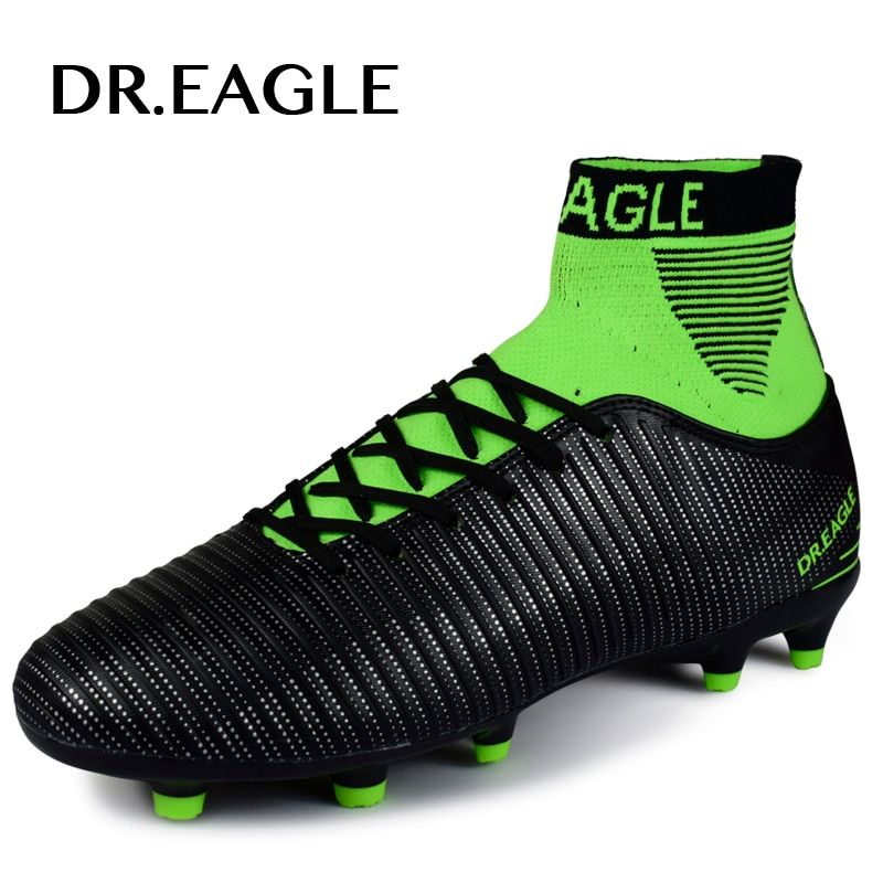 DR.EAGLE football shoes for men high cleats soccer original With Socks Professional Football Boot FOOTBALL WITH ANKLE BOOTS