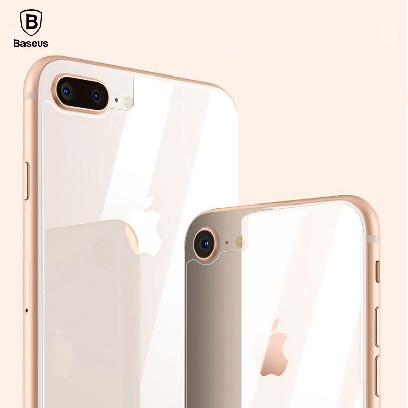 Baseus 0,3mm Back-schirm-schutz Für iPhone 8 Hinten Gehärtetem Glas Für iPhone 8 Plus Reverse Schutz Gehärtetem Glas Film