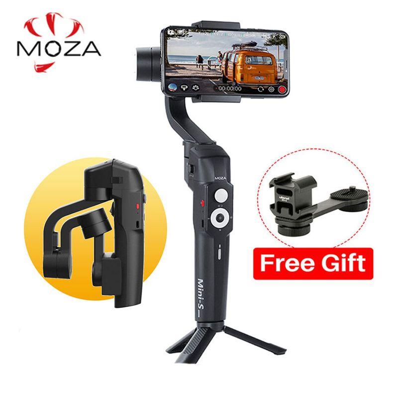 Stabilisateur de cardan de téléphone pliable Moza mini-s 3 axes pour iPhone X Huawei P30 Samsung GoPro Hero 7/6/5 VS Moza mini-mi lisse 4